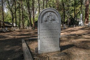 Headstone in Yosemite Cemetery
