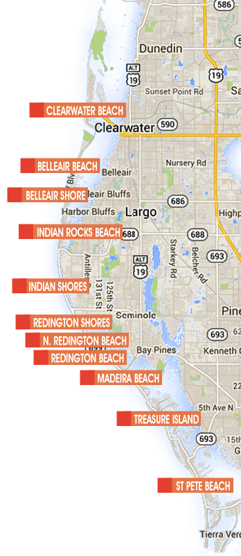 Map Of Clearwater Beach Hotels : clearwater, beach, hotels, Clearwater, Florida, Catalog, Online