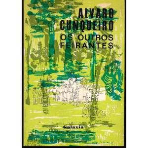 """Capa de """"Os outros feirantes"""" de Álvaro Cunqueiro. Galaxia, 1979."""
