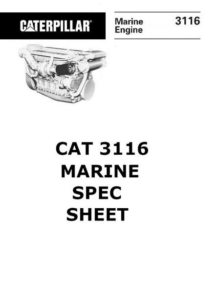 CAT 3114 3116 3126 engine manuals