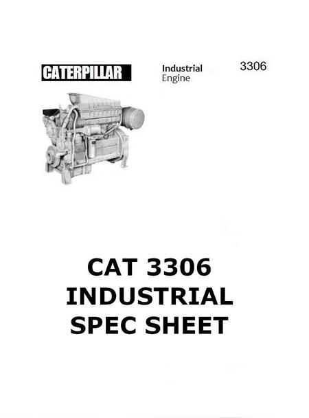 CAT 3304 and 3306 workshop manual, spec sheet