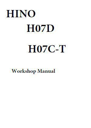 Hino H07 engine manuals, specs, bolt torques
