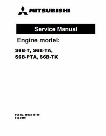 Mitsubishi S6B engine specs, bolt torques