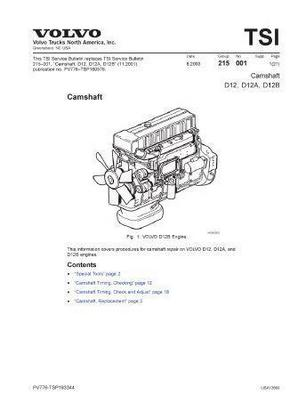 Volvo D12 specs, bolt torques and manuals