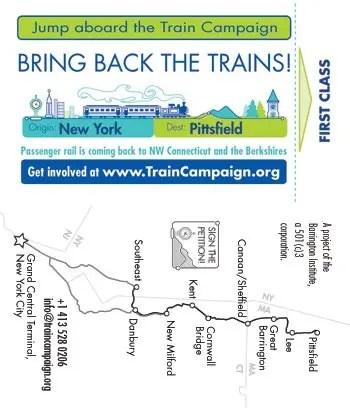 Barrington Institute Train Campaign 2014 Business Card F/R