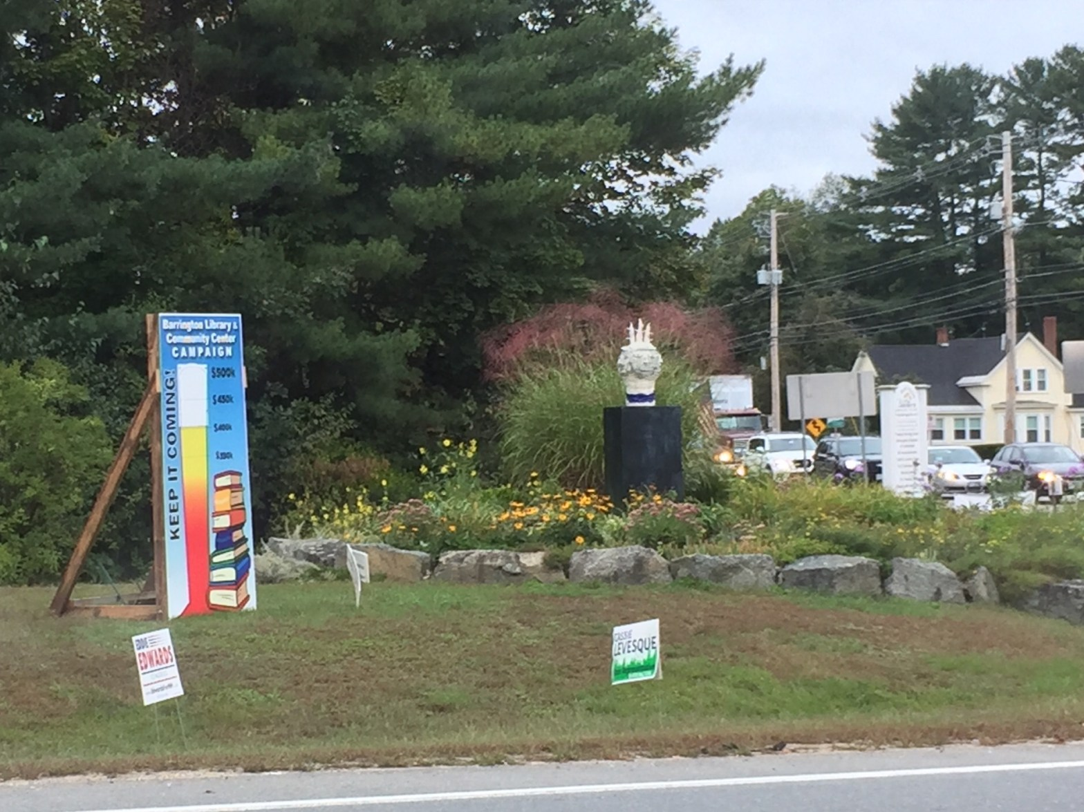 Fundraising meter on Routes 125 and 9