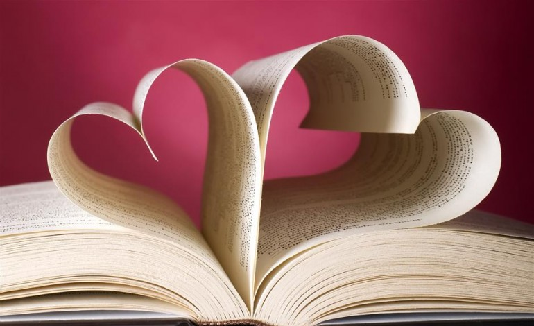 book with pages shaped as hearts