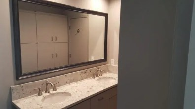 Small bath renovation in Fort Worth
