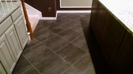 Tile floor and cabinet remodeling