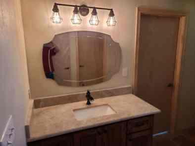 Countertop vanity remodel