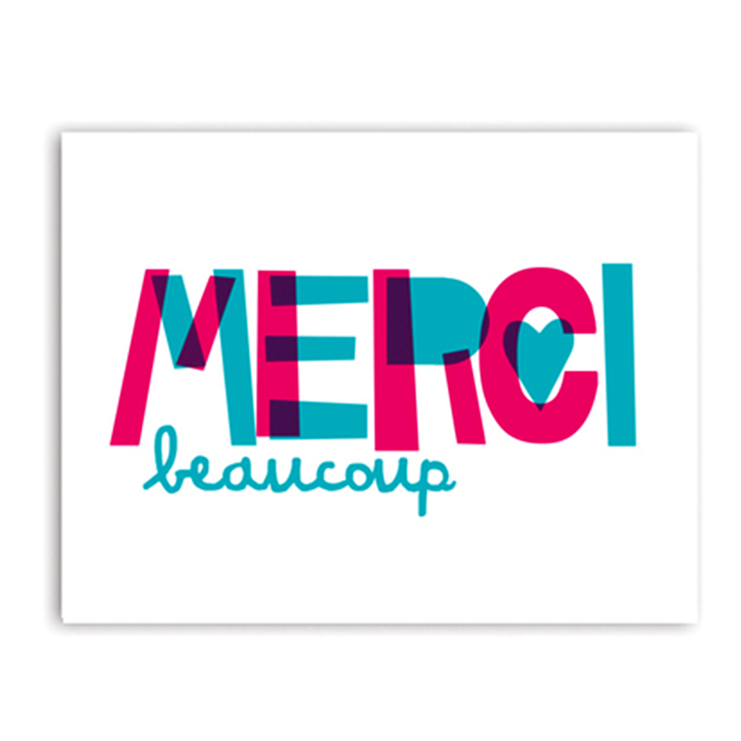 Merci Beaucoup set of cards by Rock Scissor Paper
