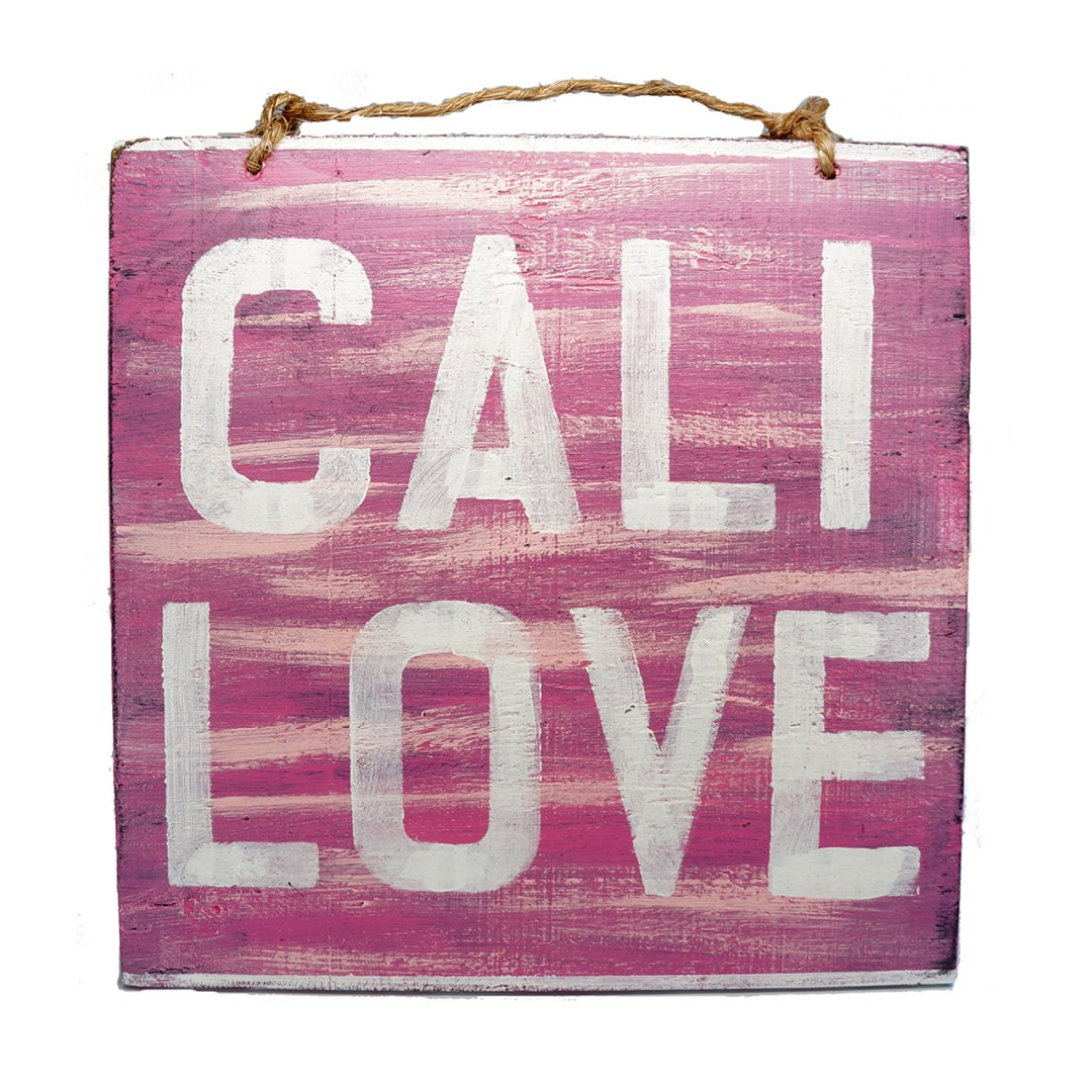 Cali love wood sign