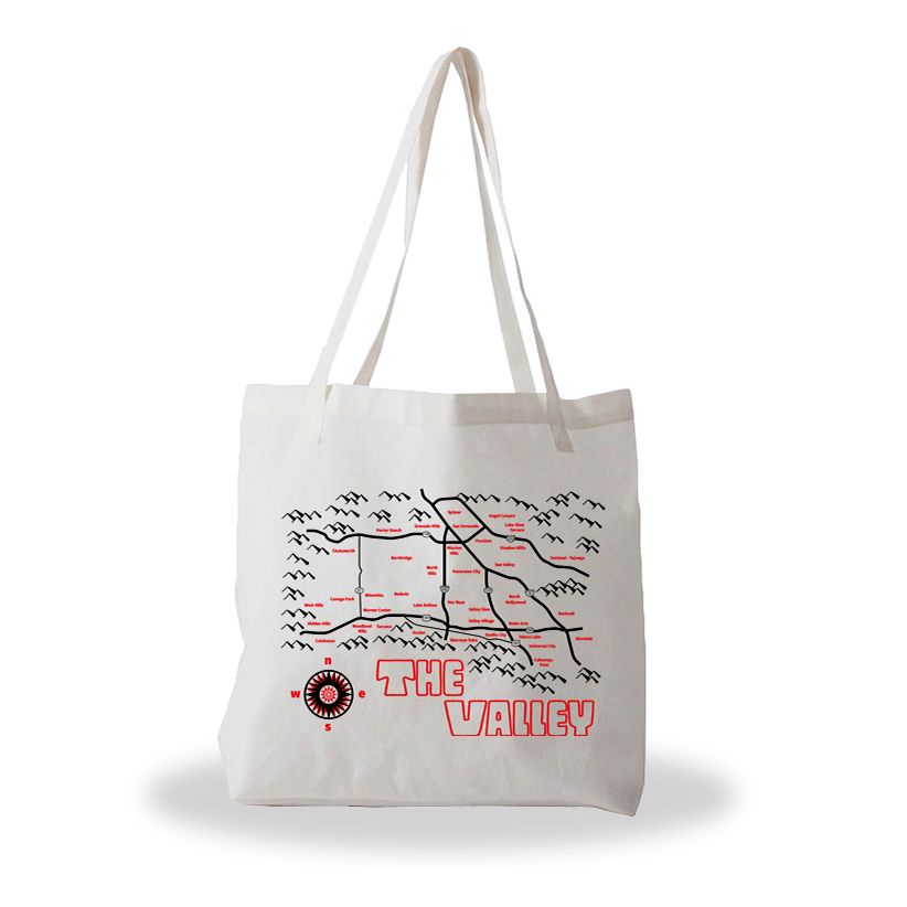 The Valley tote bag from 6250 Maps