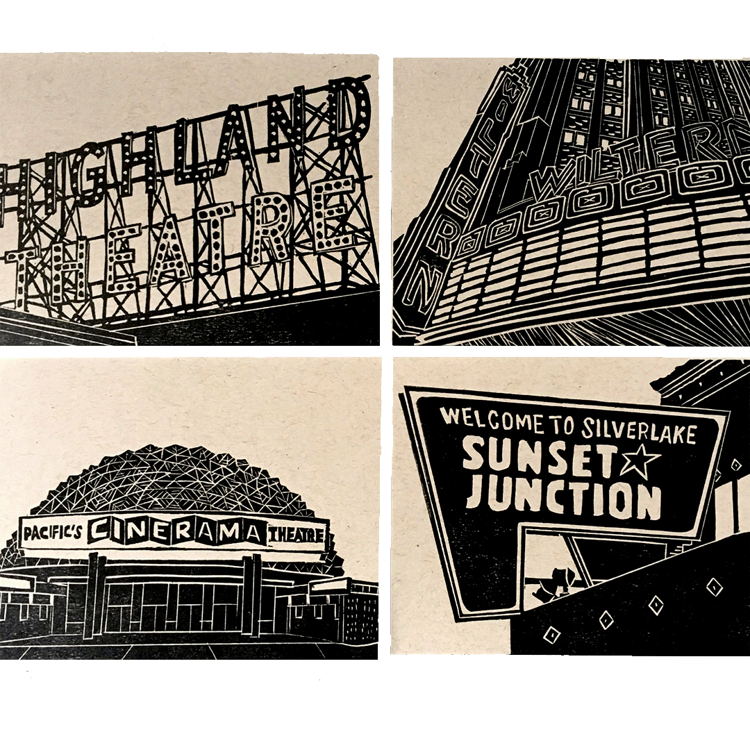 Eastside LA card set by Ink + Smog Editions