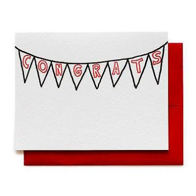 congrats banner greeting card