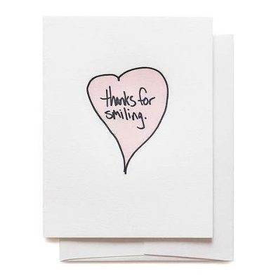 thanks for smiling greeting card