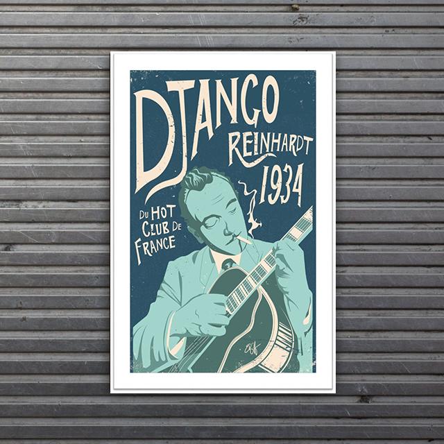 limited edition Django Reinhardt print