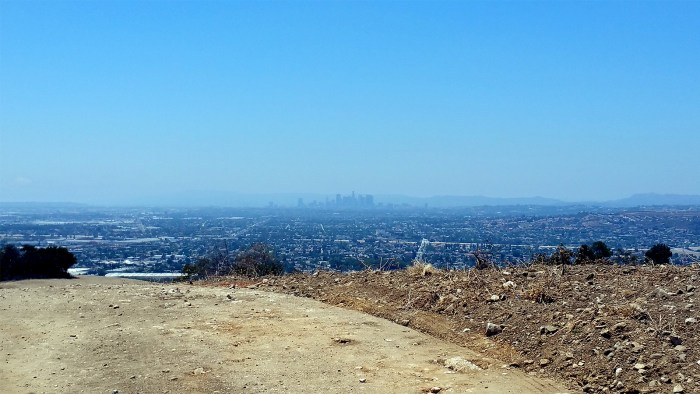 Hellman Trail view of DTLA