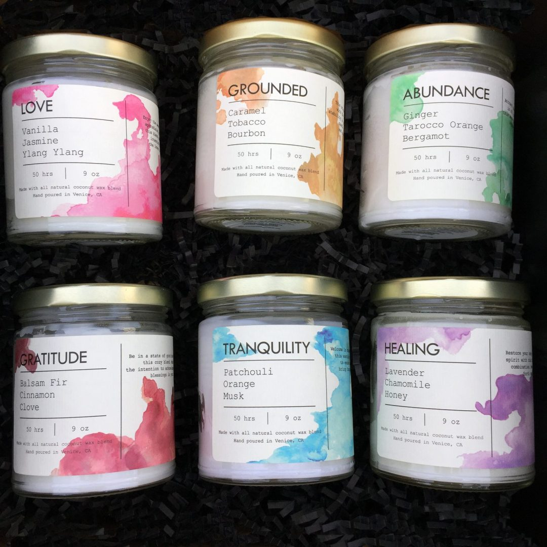 coconut wax candles by Lucin Candle Studio