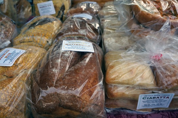 Fresh-baked bread from the Hollywood Farmers Market