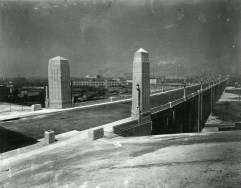 1932 - The newly constructed classic Sixth Street Viadcut, and her pillars.