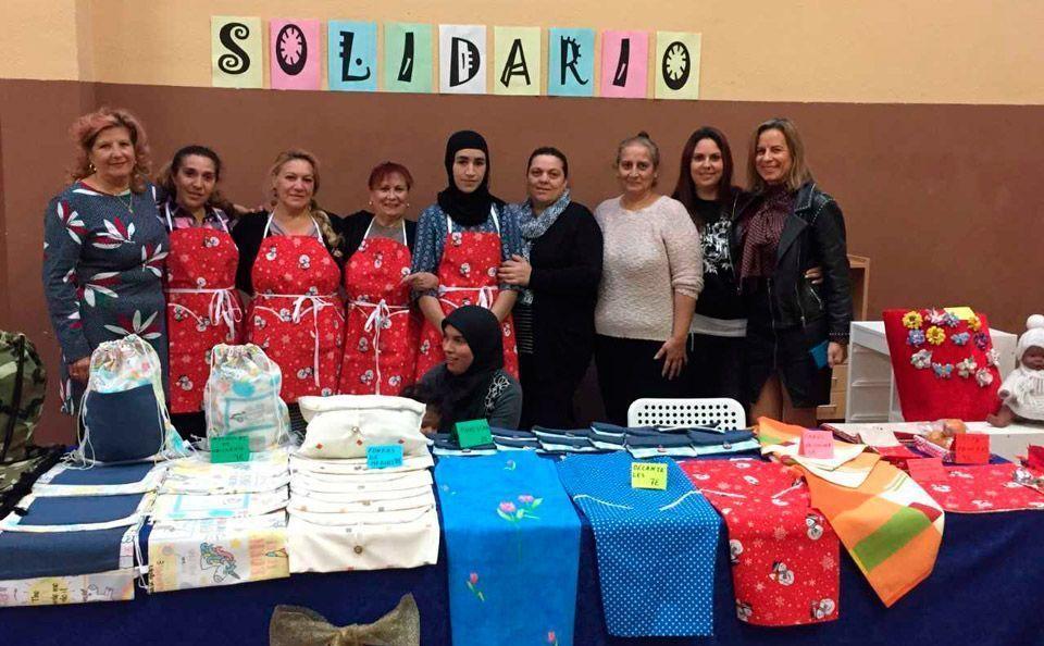 Las madres del Ramiro Solans participan en el Mercado del Cierzo