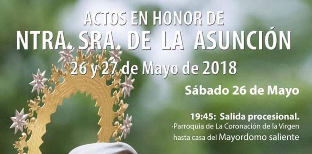 Actos en honor de Ntra Sra de la Asunción 2018