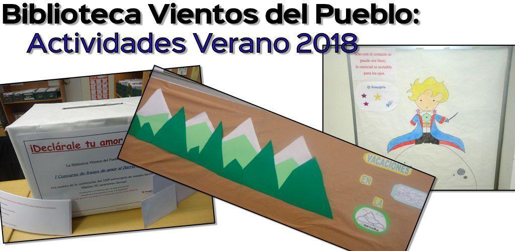 Biblioteca Vientos del Pueblo: Actividades de Verano 2018