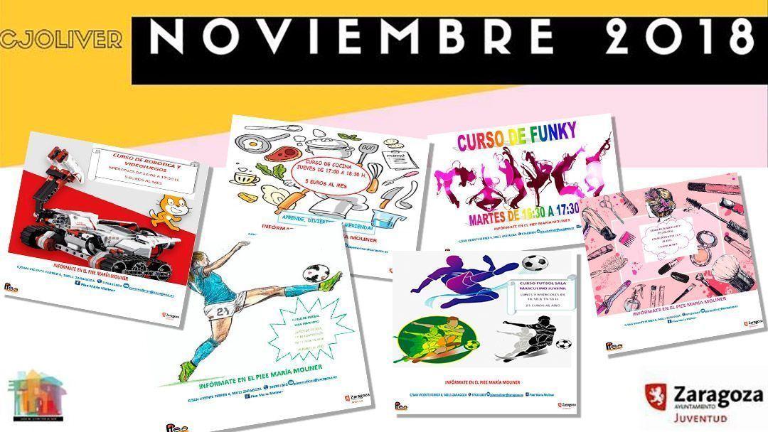 Casa de Juventud Oliver: Actividades noviembre 2018