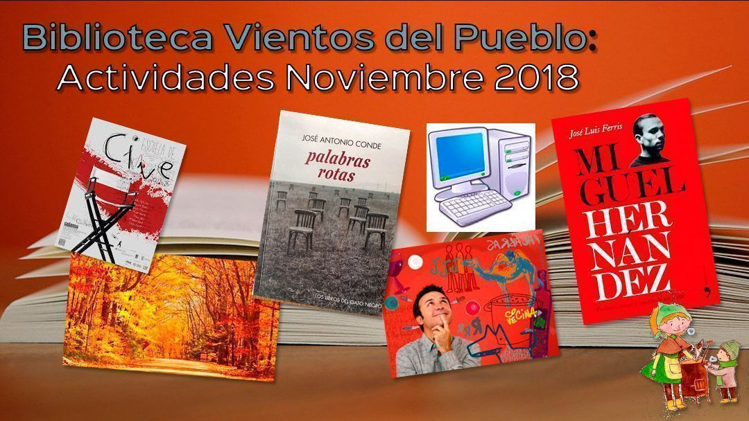 Biblioteca Vientos del Pueblo: Actividades noviembre 2018