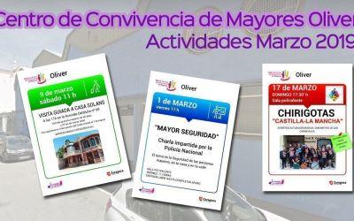 Centro de Convivencia de Mayores Oliver: Actividades marzo 2019