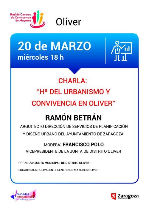 Charla Ramón Betrán Centro de Convivencia de Mayores Oliver 13-03-2019