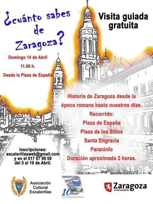 Visita guiada Zaragoza 14-04-2019