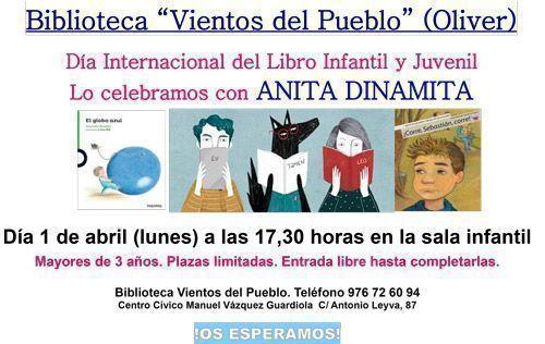 """Día del Libro Infantil y Juvenil 2019 en la Biblioteca """"Vientos del Pueblo"""" de Oliver"""