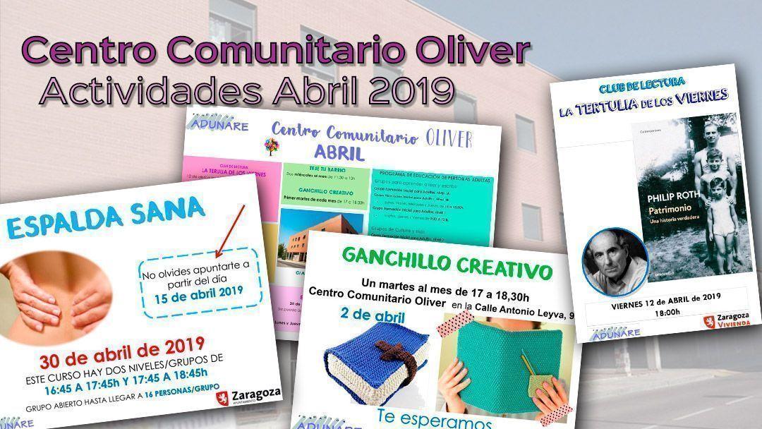 Centro Comunitario Oliver: Actividades abril 2019