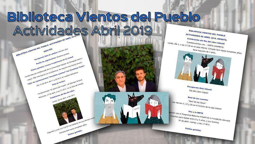 Biblioteca Vientos del Pueblo: Actividades abril 2019