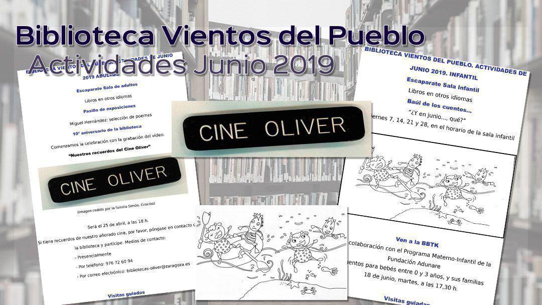 Biblioteca Vientos del Pueblo. Actividades junio 2019
