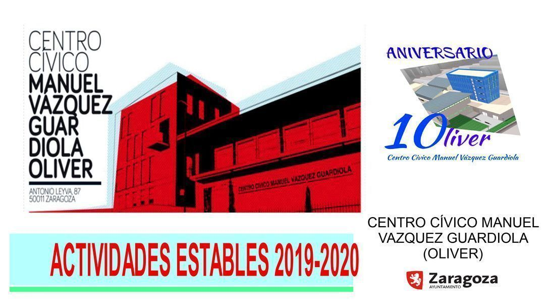 Centro Cívico Oliver: Actividades estables 2019-2020
