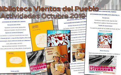 Biblioteca Vientos del Pueblo Actividades de Octubre 2019