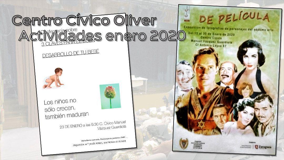 Centro Cívico Oliver: Actividades de enero 2020.