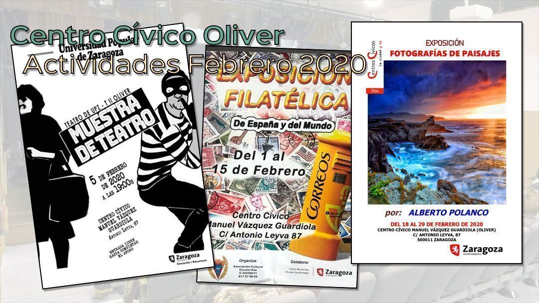 Actividades para febrero 2020 en el Centro Cívico Oliver