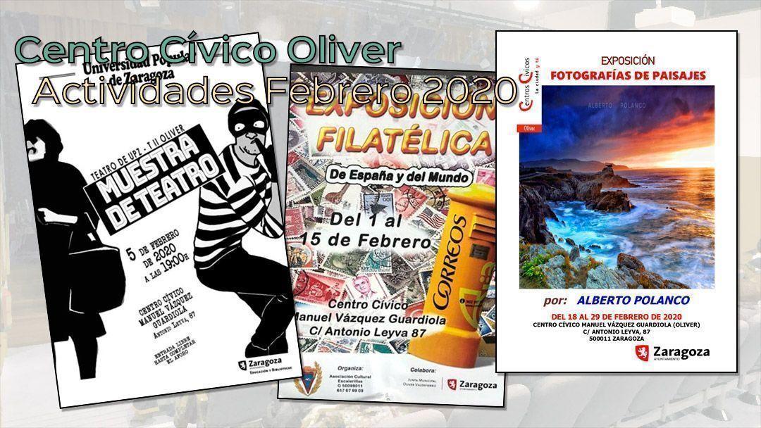 Actividades para febrero 2020: Centro Cívico oliver