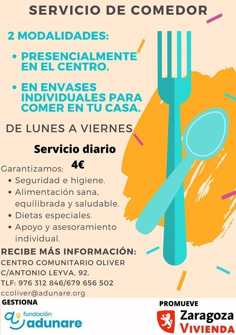 Centro Comunitario Oliver - Junio 2021 - Servicio de Comedor