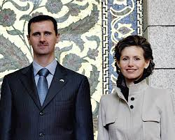 Mrs Assad with her Dictator Husband