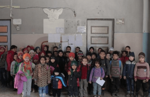 Children still go to school in Aleppo