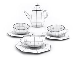 Conjunto de chá geométrico