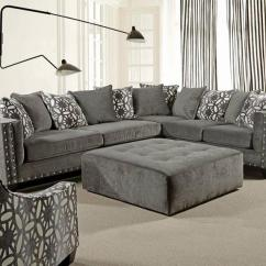 Sofa With Cuddler And Chaise Montauk Slipcover Barron's Furniture Appliance - Living Room
