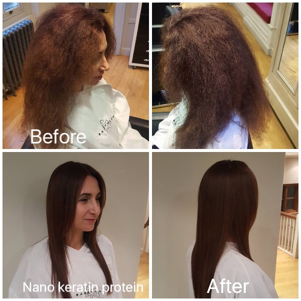 anti frizz damaged hair keratin protein treatment