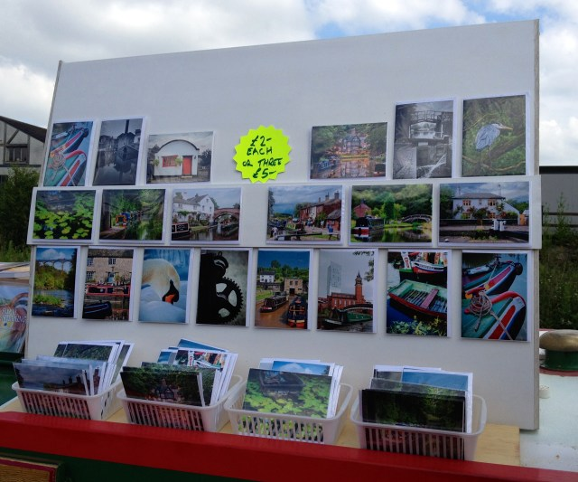 Barry's greetings cards on display - there's a better board on its way ...