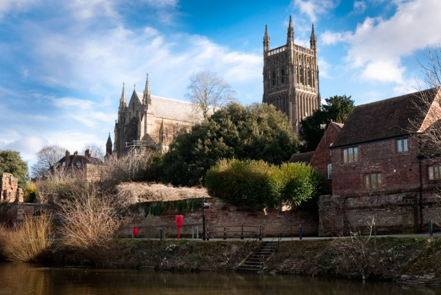 Worcester Catherdral from the River Severn